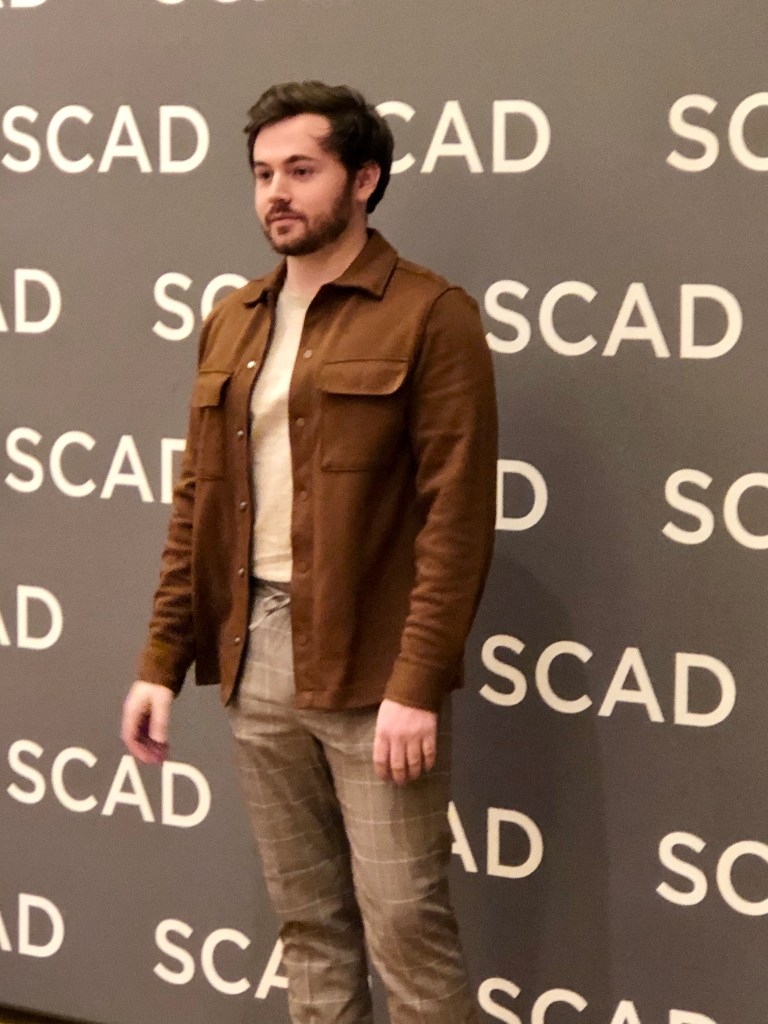 SCAD alumnus Caleb Holland at SCAD aTVfest 2020, photo credit: Tracey Phillipps/So Many Shows