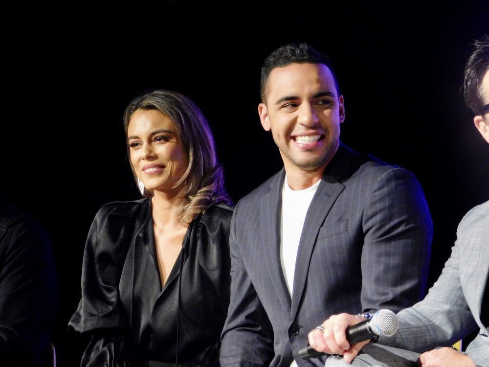 Actors Nathalie Kelley and Victor Rasuk at SCAD aTVfest. photo credit: Tracey Phillipps/So Many Shows