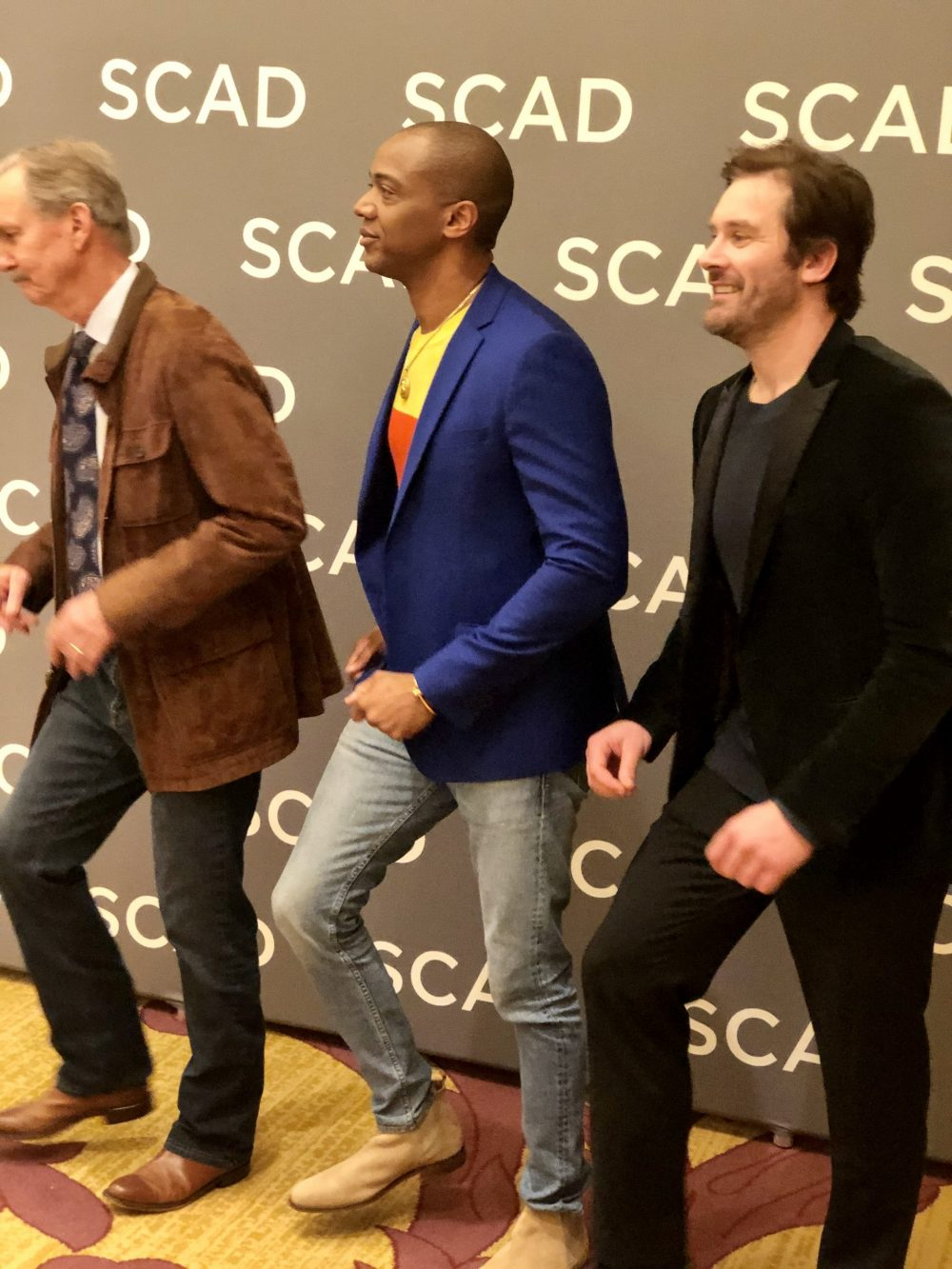 Actors Michael O'Neill, J. August Richards and Clive Standen at SCAD aTVfest 2020 hoto credit: Tracey Phillipps/So Many Shows