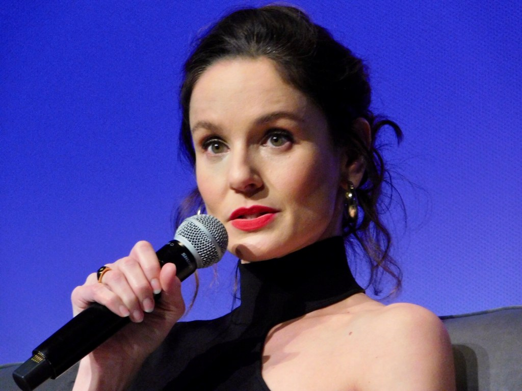 Actor Sarah Wayne Callies on the Council of Dads panel at SCAD aTVfest 2020. photo credit: Tracey Phillipps/So Many Shows