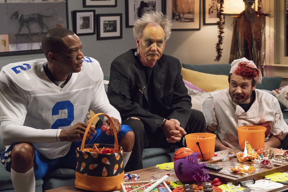 """COUNCIL OF DADS -- """"Tradition"""" Episode 105 -- Pictured: (l-r) J. August Richards as Dr. Oliver Post, Michael O'Neill as Larry Mills, Clive Standen as Anthony Lavelle -- (Photo by: Seth F. Johnson/NBC)"""