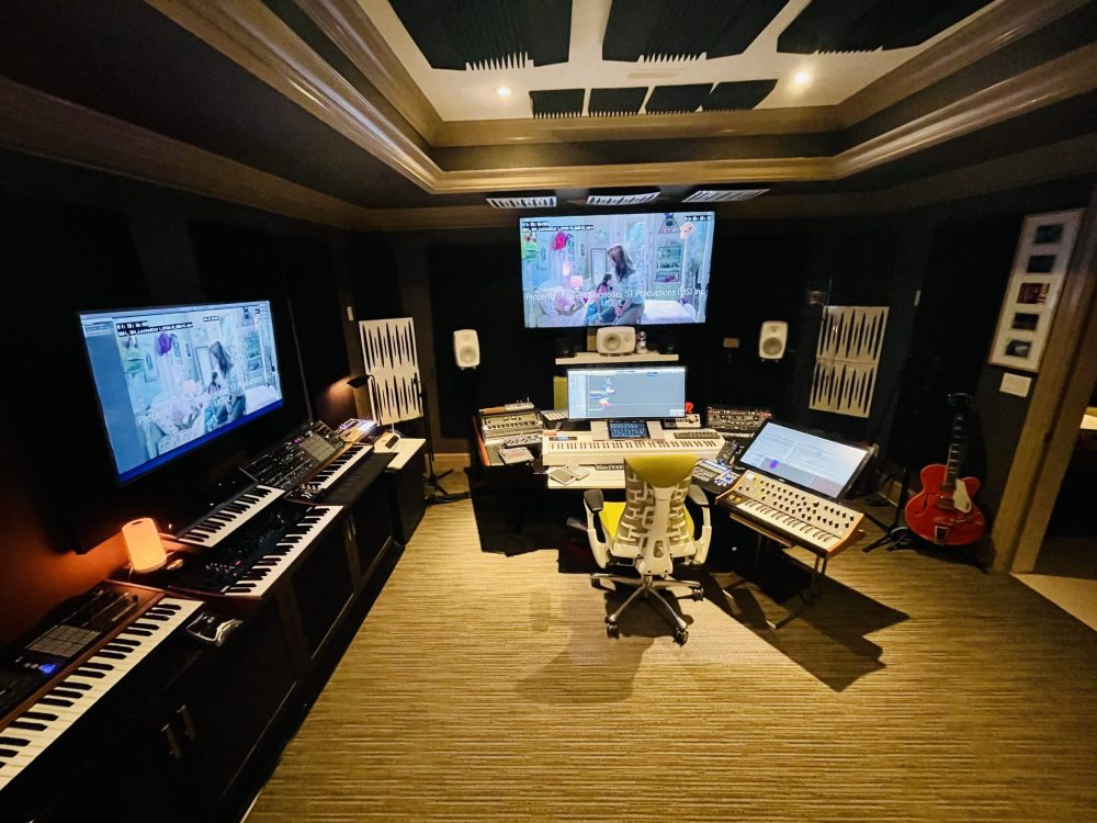 Workstation of James Jandrisch, composer of Sweet Magnolias on Netflix
