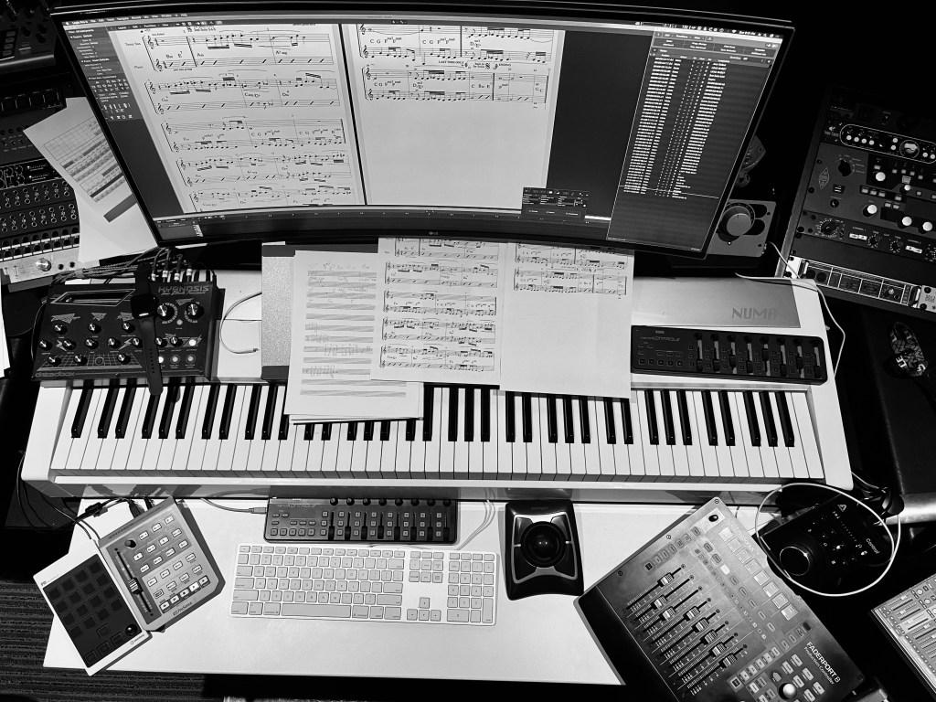 James Jandrisch, composer, workstation, photo credit Twisted Music