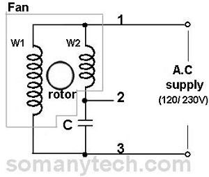 Condenser Ceiling Fan Capacitor Connection