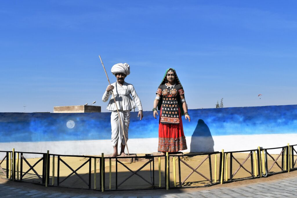 Art Installation of Traditional Couple, Rann Utsav