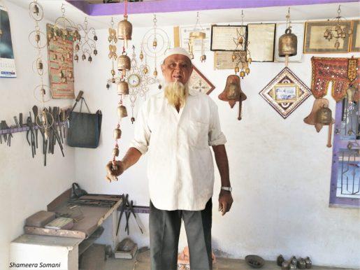 Craftsman Showing Copper Bells, Nirona