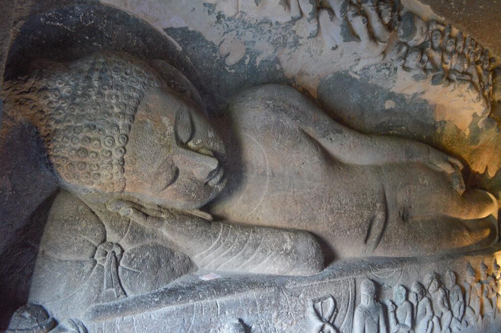 Bodhisattva Attaining Parinirvan, Cave 29, Ajanta