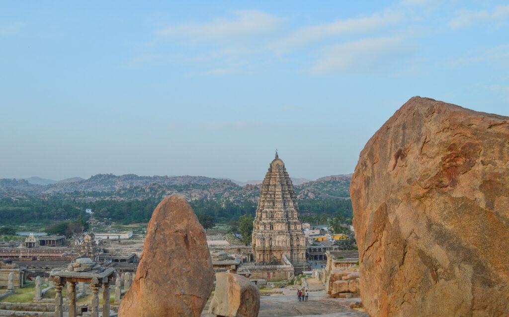 Virupakshu Temple from Hemkantu Hill, Hampi