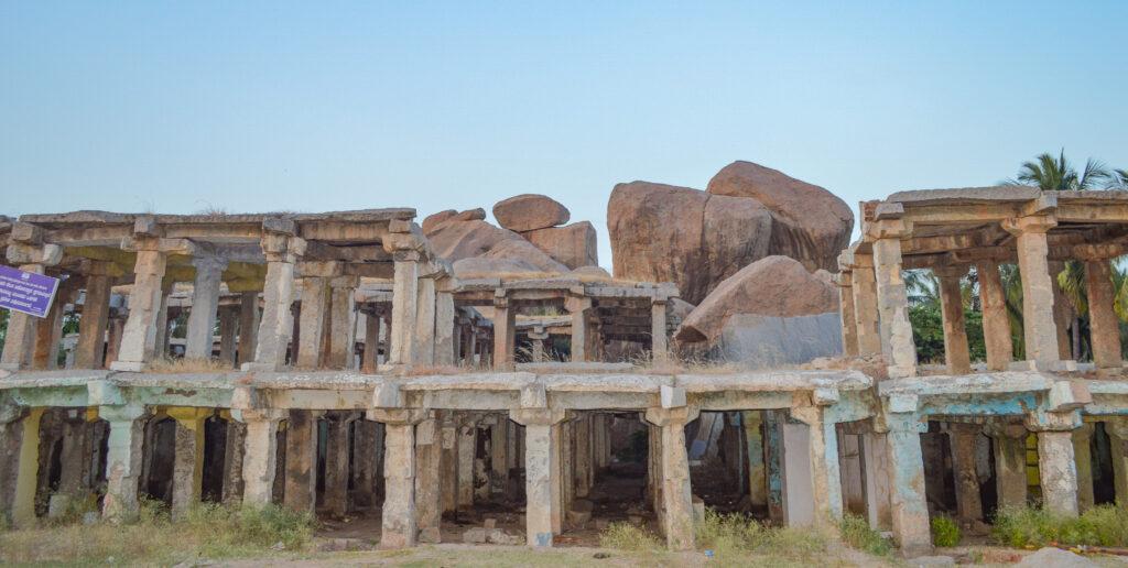 Remnants of Hampi Bazar