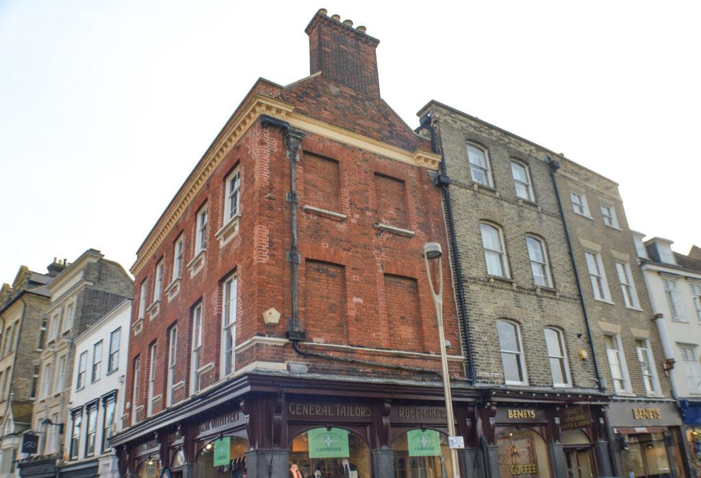 Windows of Homes sealed with bricks, Cambridge