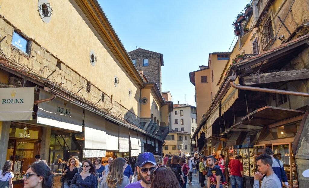 Shops on Ponte Vecchio bridge, Florence