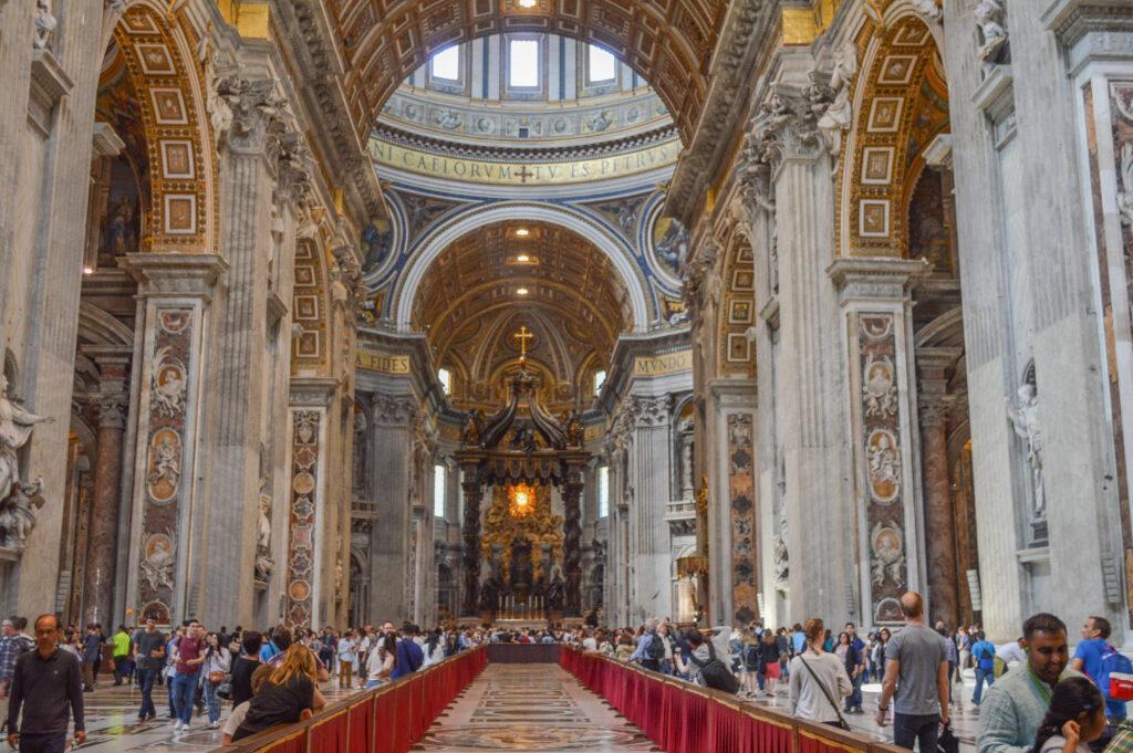 Inside St. Peter's Basilica, Vatican
