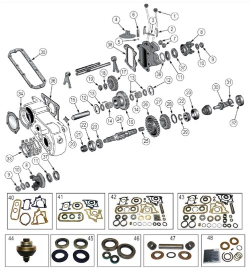 small resolution of dana 18 transfer case vintage