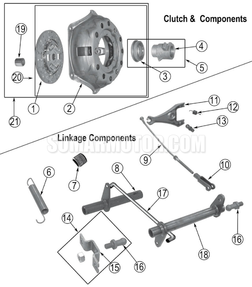 Clutch Diagram for Willy's (1941-1971) 4-134