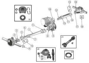 Diagrams For Jeep :: DriveShafts Parts :: Wrangler YJ