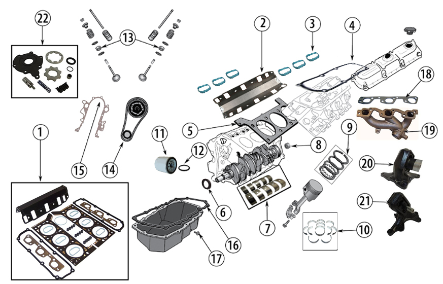 Diagrams For Jeep :: Engine Parts :: 3.8L Engine