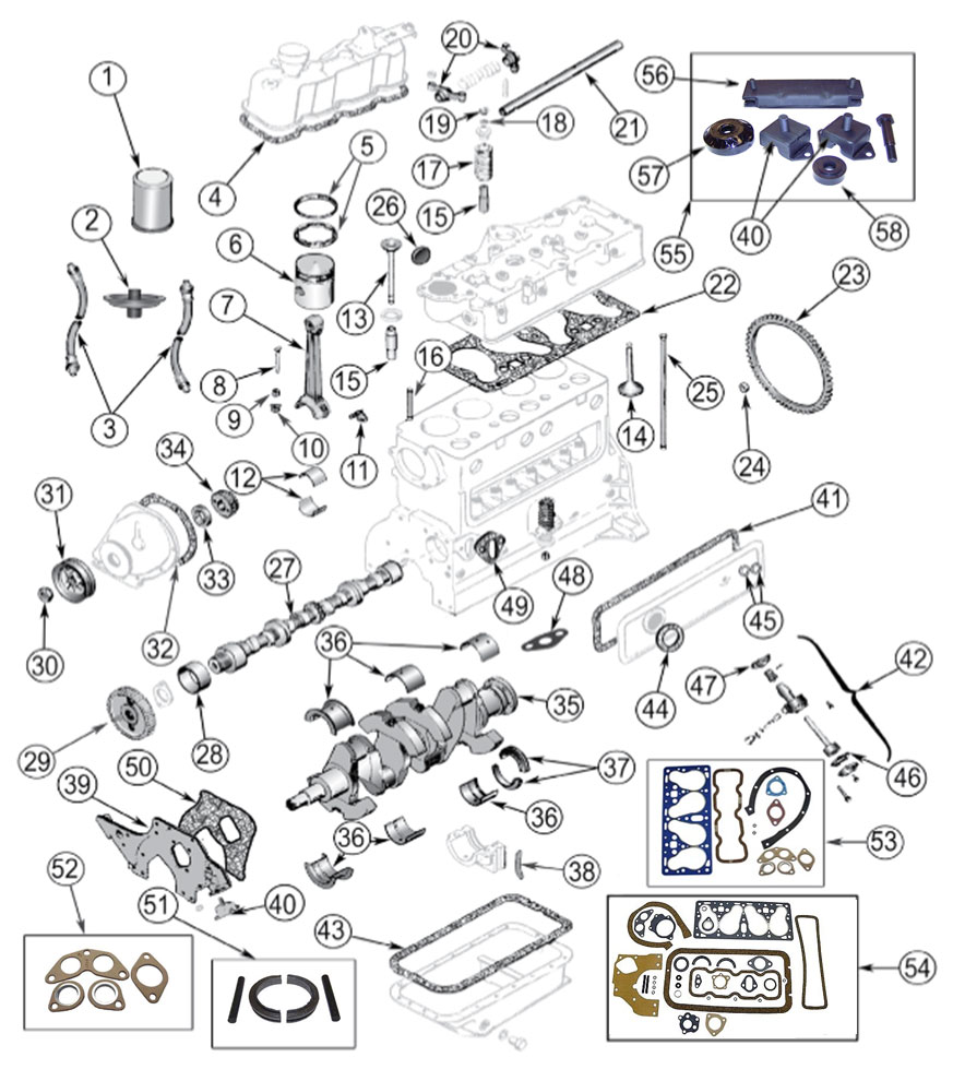 Diagrams For Jeep :: Engine Parts :: 4-134 F-Head