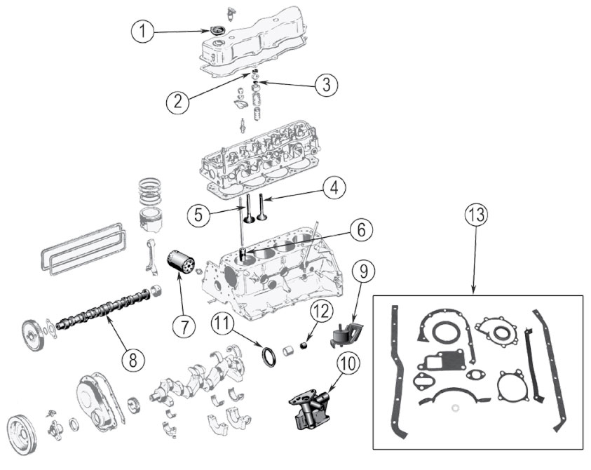 Diagrams For Jeep :: Engine Parts :: GM 2.5L (4-151) Engine