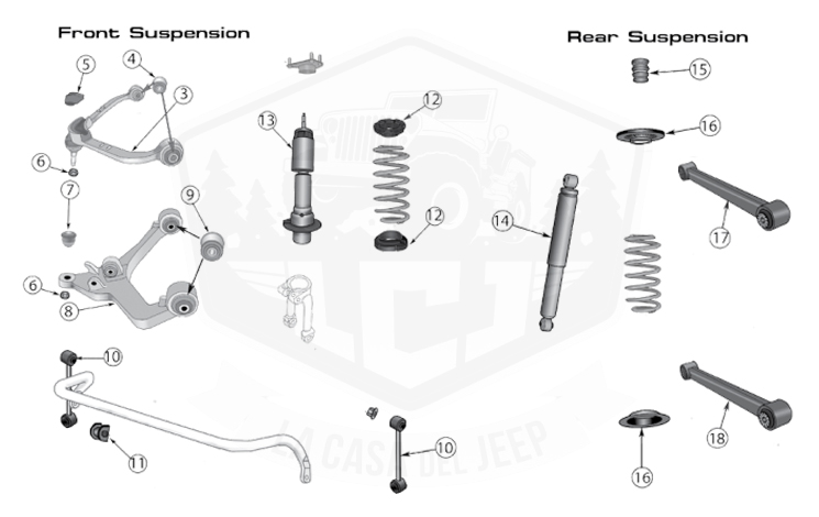 Diagrams For Jeep :: Suspension Parts :: Liberty KK (2008