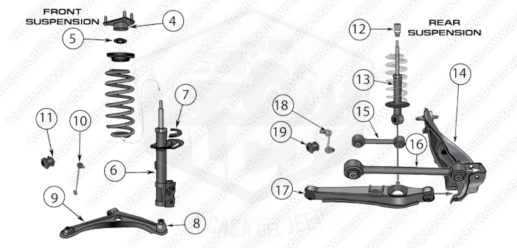 Diagrams For Jeep :: Suspension Parts :: Compass & Patriot