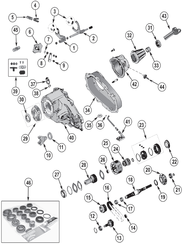 Diagrams For Jeep :: Transfer Parts :: NP 231 Transfer Case