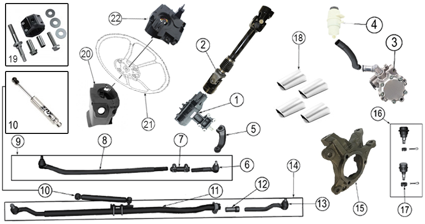 Diagrams For Jeep :: Steering Parts :: Wrangler JK (2007-2017)
