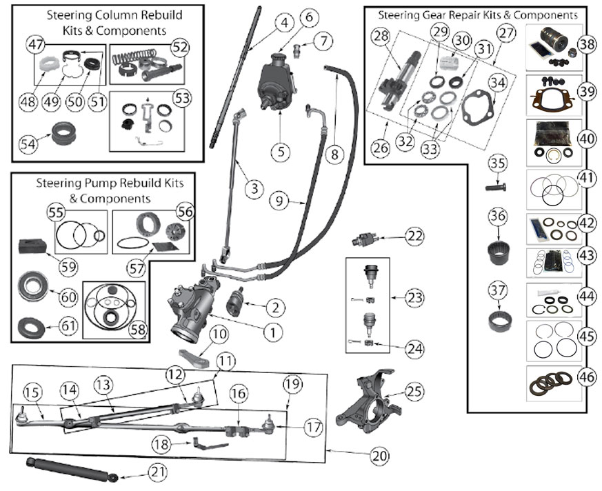 Diagrams For Jeep :: Steering Parts :: Wrangler YJ (1987-1995)
