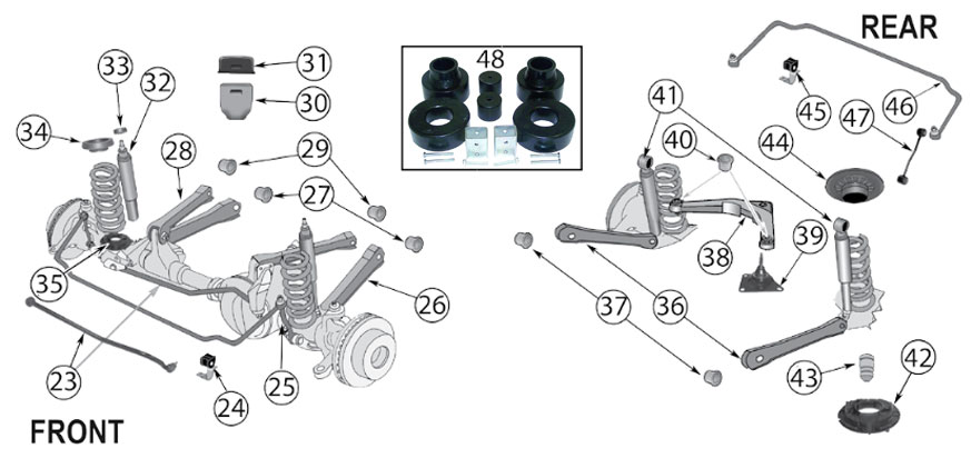Diagrams For Jeep :: Suspension Parts :: Grand Cherokee WJ