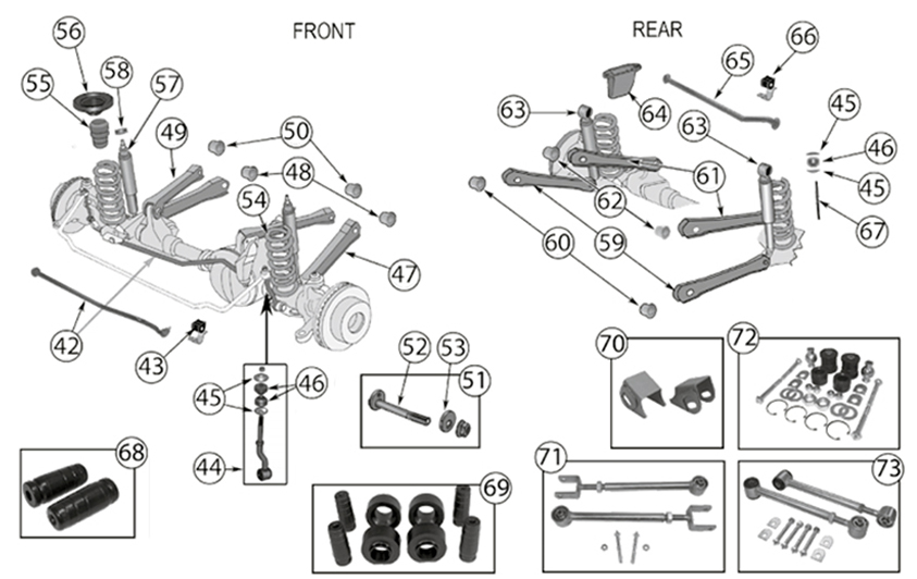 Diagrams For Jeep :: Suspension Parts :: Grand Cherokee ZJ