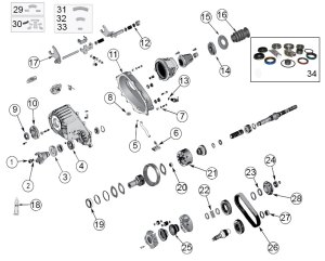 Diagrams For Jeep :: Transfer Parts :: NP 242 Transfer Case :: 19992004 Jeep Grand Cherokee WJ