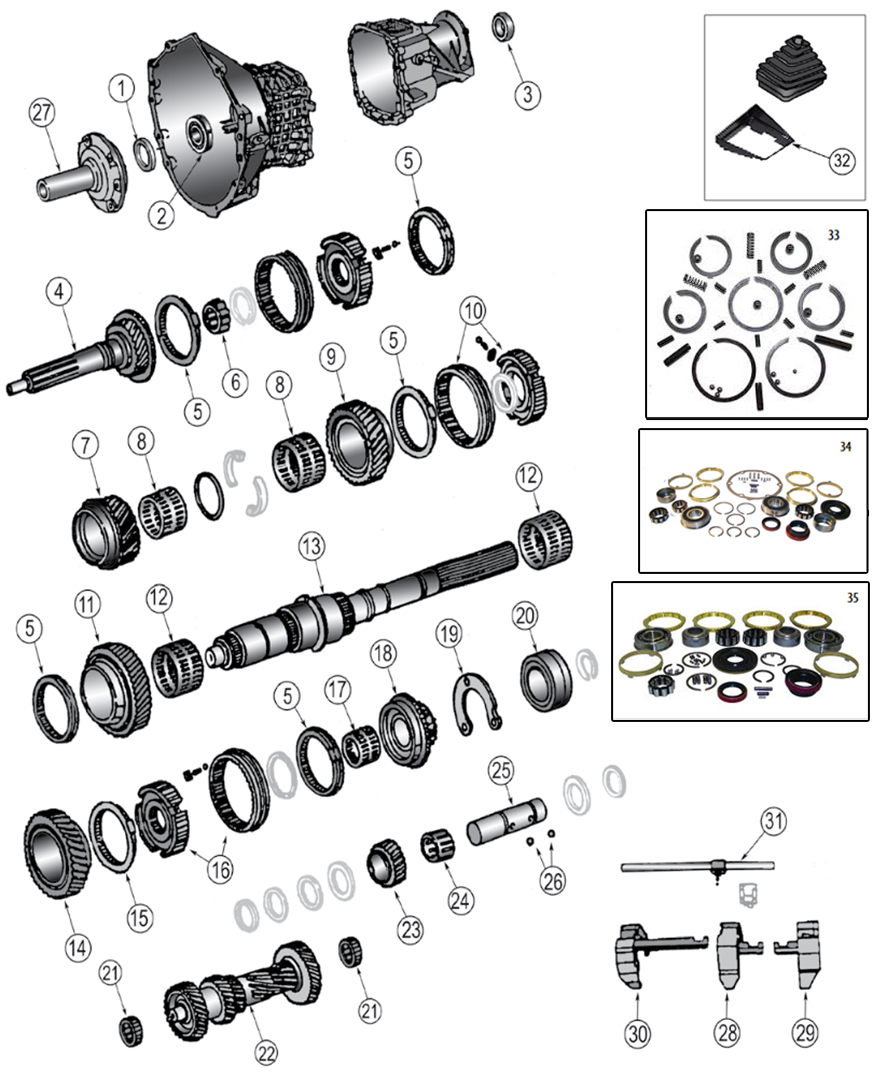 Diagrams For Jeep :: Transmission Parts :: Transmission