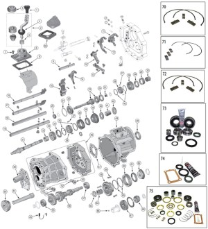 Diagrams For Jeep :: Transmission Parts :: AX15 Transmission