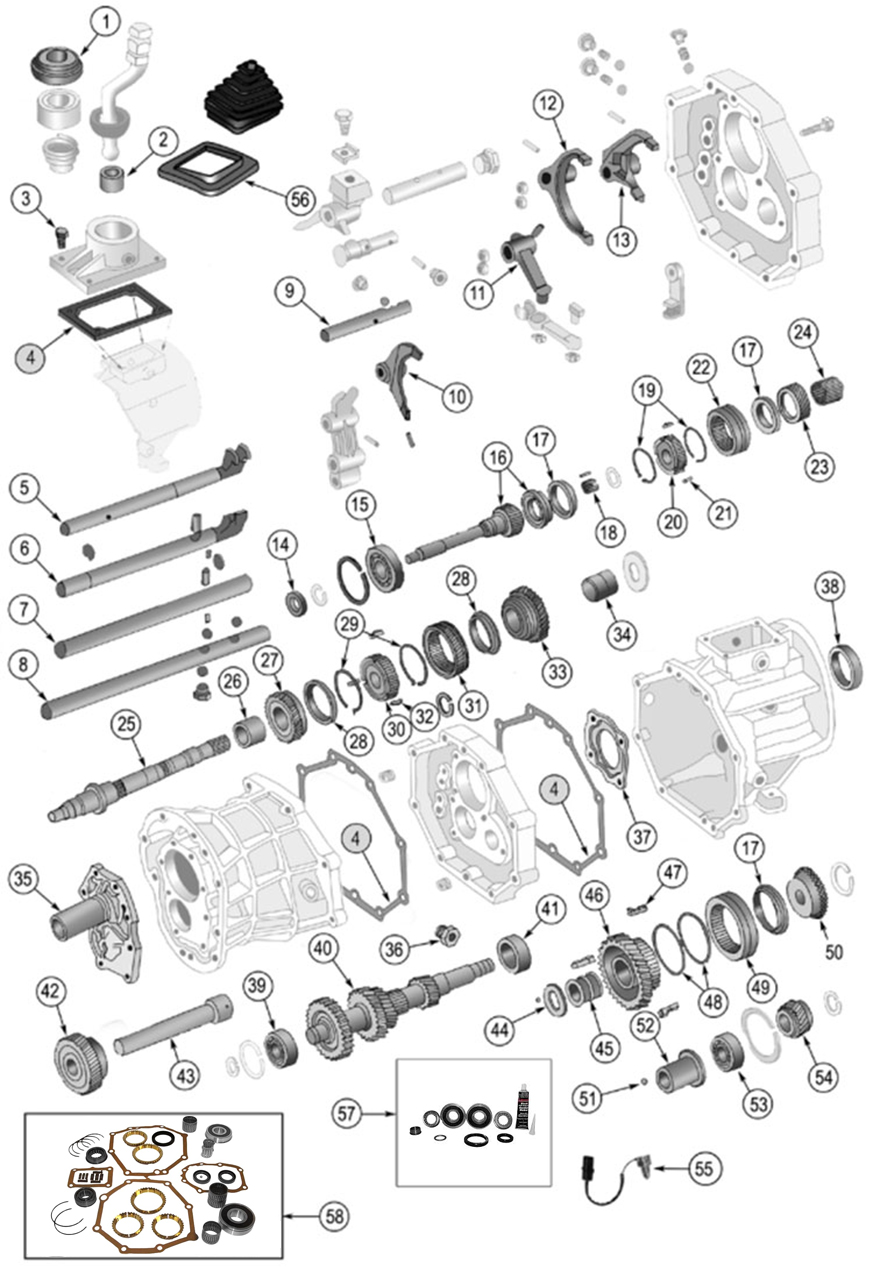 Parts & Accessories Jeep AX5 Synchro Ring Kit 1984-2002 5