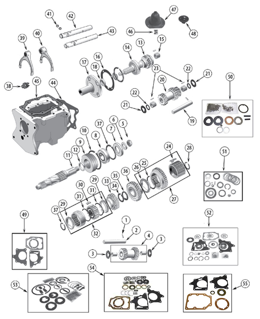 Diagrams For Jeep :: Transmission Parts :: Model T150