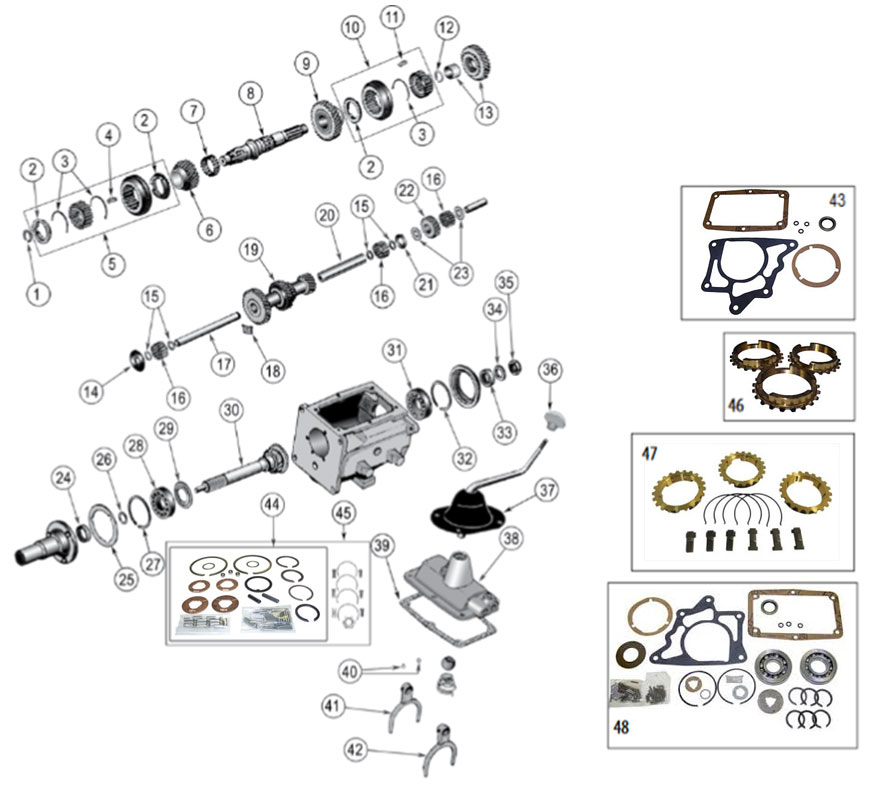Diagrams For Jeep :: Transmission Parts :: Model T-14