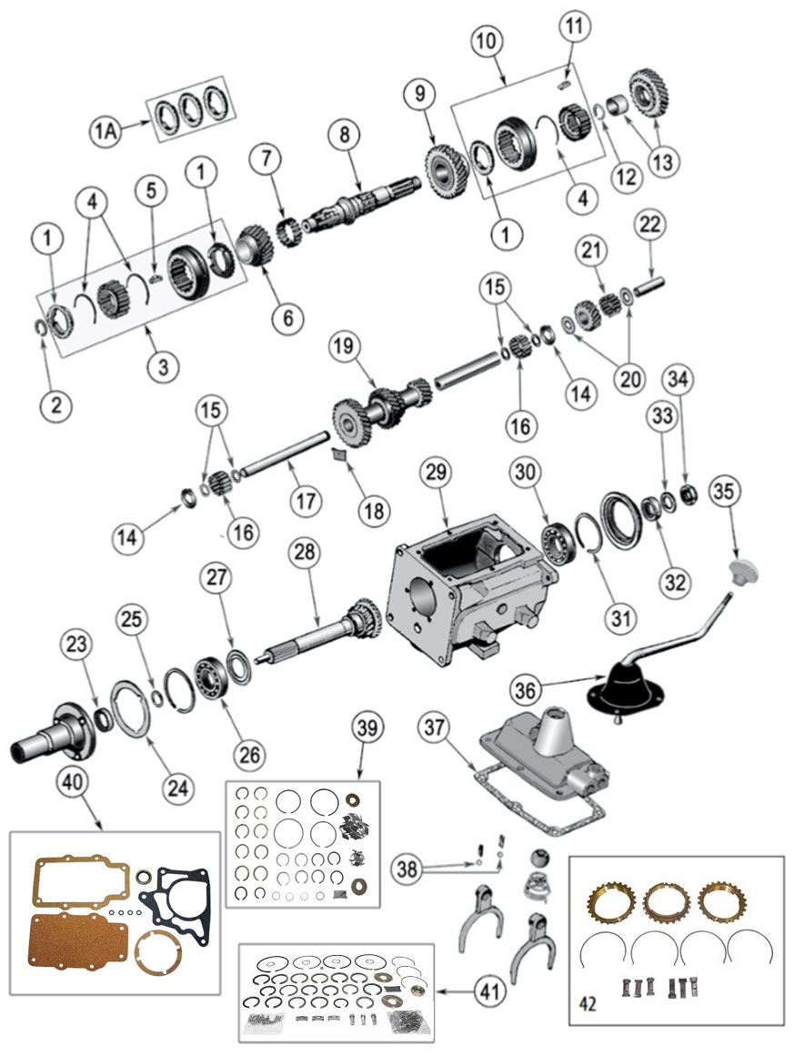 Diagrams For Jeep :: Transmission Parts :: Model T-15