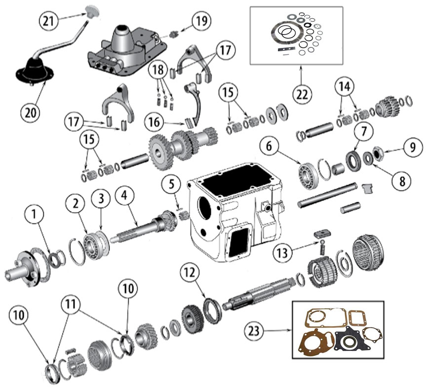 Diagrams For Jeep :: Transmission Parts :: Model T-18