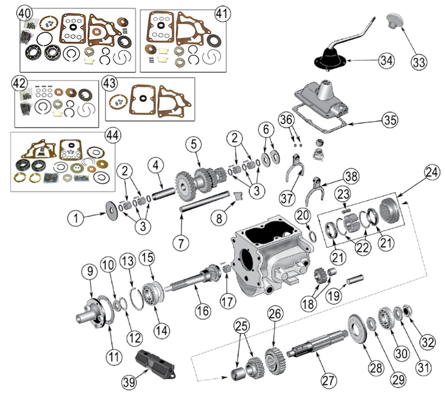 Diagrams For Jeep :: Transmission Parts :: Model T-90