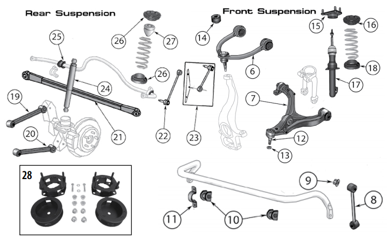 Diagrams For Jeep :: Suspension Parts :: Commander XK