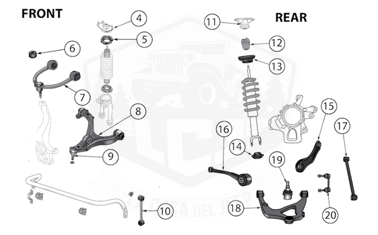 Diagrams For Jeep :: Suspension Parts :: Grand Cherokee WK