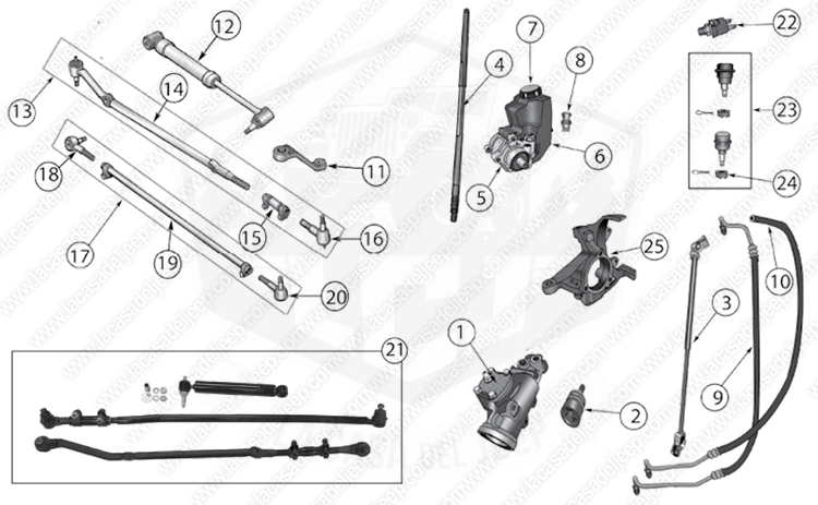 Diagrams For Jeep :: Steering Parts :: Cherokee XJ (1984-2001)