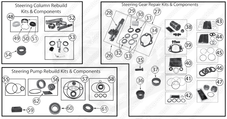 Diagrams For Jeep :: Steering Parts :: Cherokee XJ (1984