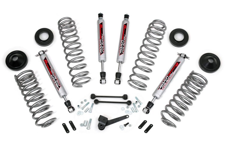 Rough Country 3.25IN Jeep Suspension Lift Kit; 2007-2018