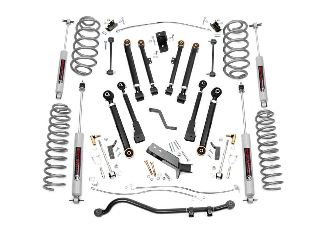Rough Country 4IN Jeep Suspension Lift Kit Premium N3