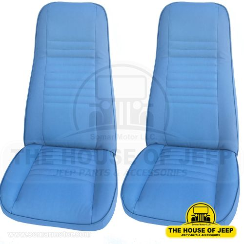 small resolution of front seat 1976 1983 cj5 cj7 cj8 oem material blue levis edition pair