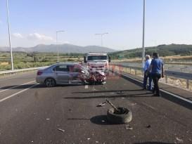 Soma'da kaza 2 yaralı