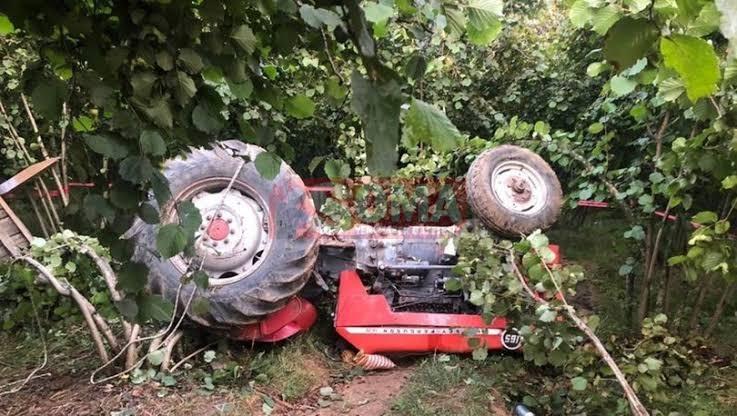 Traktör kazası, 1 ölü 1 yaralı