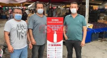 PAZARCILAR DERNEĞİNDEN PAZARYERLERİNE DEZENFEKTE STANDI