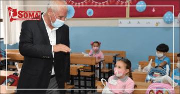 BAŞKAN TULUP'TAN ÖĞRENCİLERE SOMA HELVASI İKRAMI