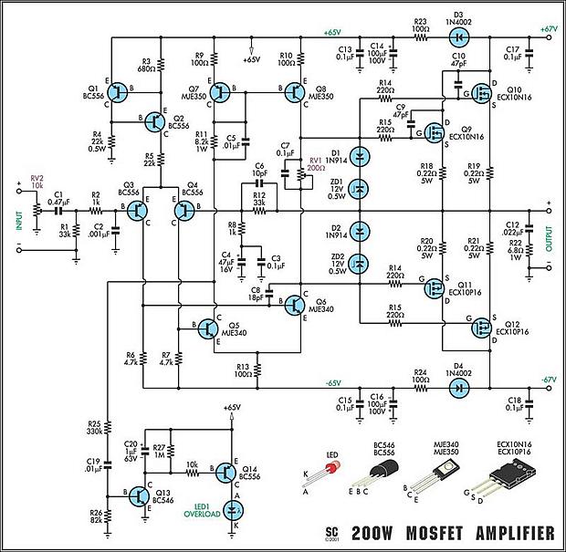 Amplificador de 400 watts para caixas monitoras ativas